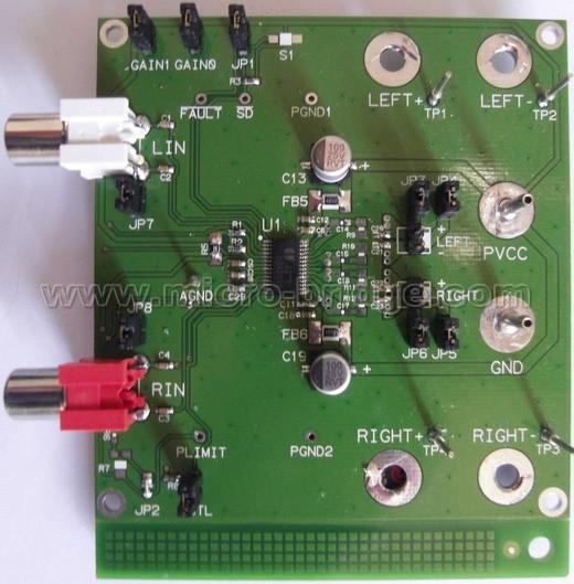 eua2313-具备有喇叭保护功能的6w立体声d类音频放大器; 集成电路(ic)