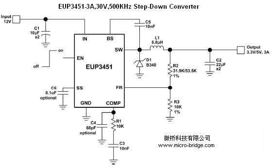 500khz降压型dc-dc变换器